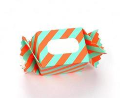 caja de regalo aislada en blanco foto