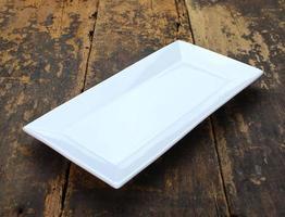 White rectangular plate
