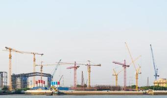 Construction cranes in Bangkok, Thailand