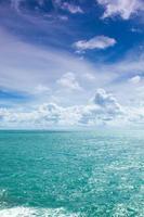 Ocean and cloudy sky