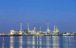 Petroleum refinery in Bangkok at night