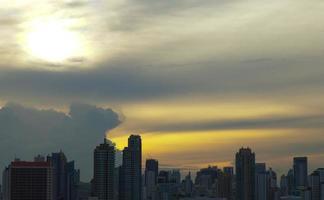 Bangkok city at sunset photo