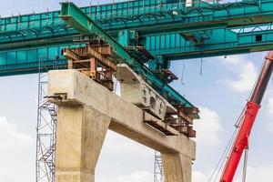 Construction of mass rail transit line photo