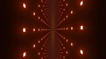 Glowing red neon points 3d illustration kaleidoscope design for background or wallpaper