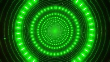 Diseño de caleidoscopio de ilustración 3d de círculos verdes concéntricos para fondo o papel tapiz