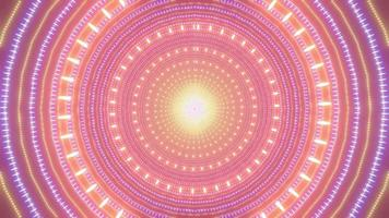 Yellow and orange wireframe circles 3d illustration kaleidoscope design for background or wallpaper