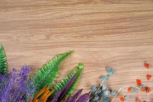 decoración de spa sobre fondo de madera