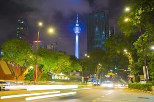 Kuala Lumpur tower at night photo