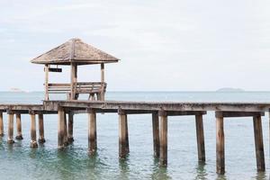 Wooden pier and pavilion photo