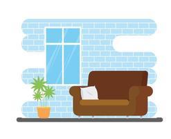 sala de estar con sofá vector