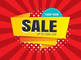 Sale banner templates. Vector illustrations for posters, shopping, email and newsletter designs, ads.