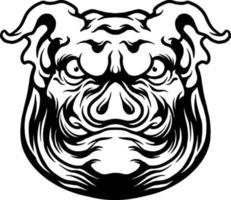 ilustración de mascota de cerdo grande enojado vector