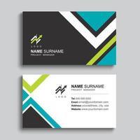 Minimal business card print template design.