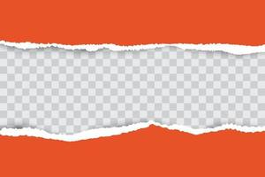 Orange ripped paper background with place for your text. vector