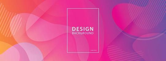 Fluid shape banner design background. Liquid geometric gradient template. vector