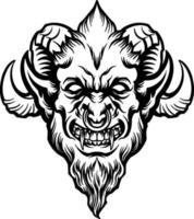 cabeza de demonio enojado vector