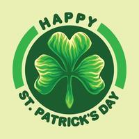 Happy St Patricks Day Emblem vector