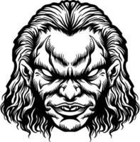 Angry Joker Head