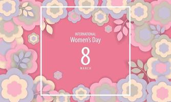 International Women's Day Poster with Flowers vector