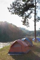 Tents in sunlight photo