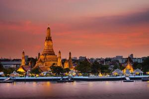 Bangkok, Thailand, 2020 - Wat Arun temple at sunset