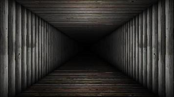 bucle sin fin de un pasillo de madera