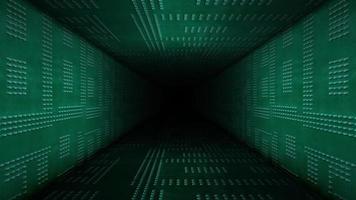 lazo de pasillo de paredes metálicas verdes de aspecto moderno video