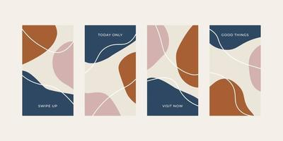 Trendy abstract universal template with nature concept for social media stories vector