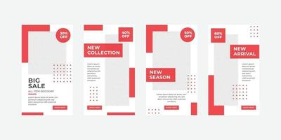 Fashion social media stories template vector