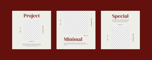 Minimalist social media post template. vector