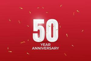 50 year anniversary vector template