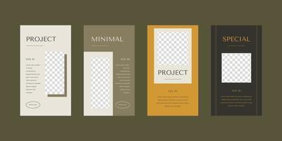 Minimalist social media stories template. vector
