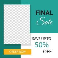 Set of Editable minimal square banner template. Suitable for social media post and web internet ads. Vector illustration