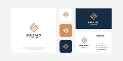 Letter S logo with business card. vector
