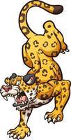 Angry cartoon jaguar vector