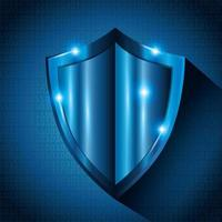 protective shield campaign background vector