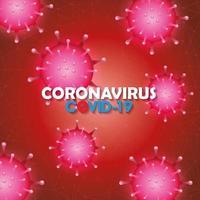 Coronavirus campaign background vector