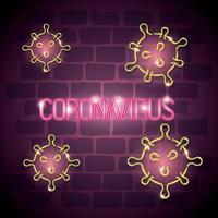 fondo de campaña de coronavirus vector