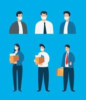 conjunto de empresarios desempleados vector