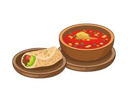 burrito and mexican food vector