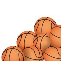 basketballs equipment icons vector