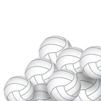 volleyballs equipment icons vector