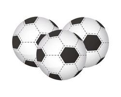 soccer balls equipment icons vector