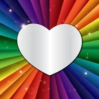 banner de vacaciones de celebración de arco iris de vector brillante