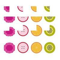 conjunto de frutas vectoriales vector