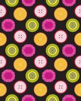 vector, frutas, seamless, patrón vector