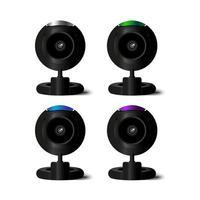 cámara web vectorial en 4 colores vector