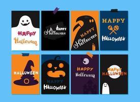 feliz halloween letras vector