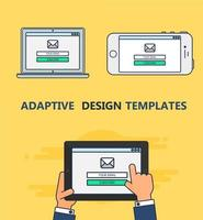 Web Template of Adaptive Email Form vector