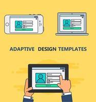 Web Template of Adaptive Login Form vector